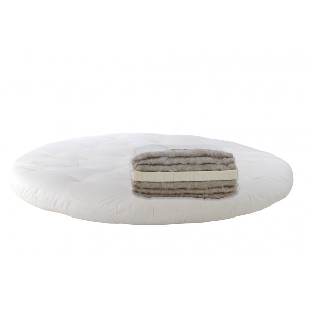 Latex, hemp. Round mattress Futon Model 16
