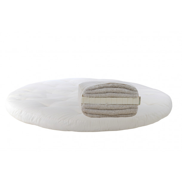 Cotton, latex. Round mattress Futon Model 6