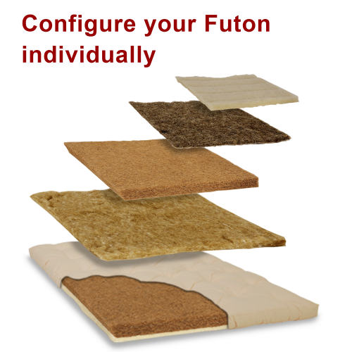 Configure futon natural layers individually