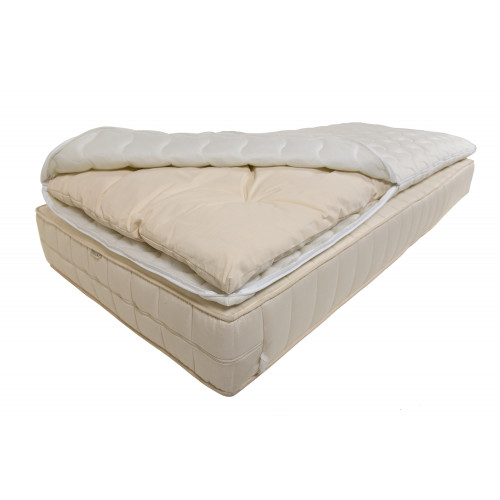 Mattress topper made from hemp, cotton, sheep's wool. Cover: Aloe Vera