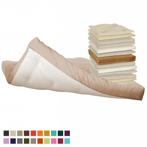 Coconut, latex, cotton, natural wool futon. Vita-line Model 3