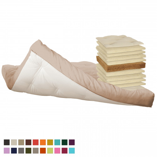 Coconut, natural wool futon. Vita-line Model 7