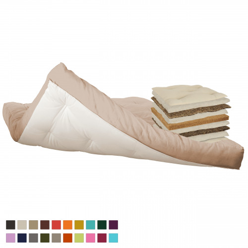 Coconut, cotton, horsehair futon. Vita-line Modell 13