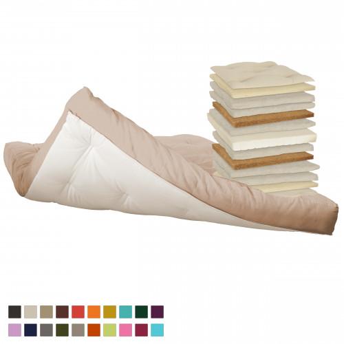 Coconut, latex, cotton, natural wool futon. Vita-line Model 17