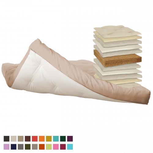 Latex, coconut, cotton, natural wool Futon. Vita-line Model 19