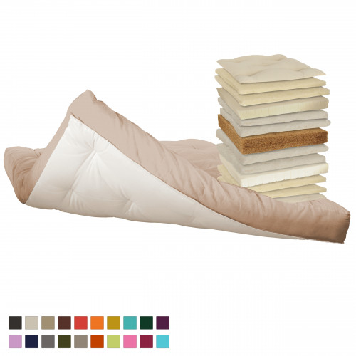 Coconut, latex, cotton, natural wool futon. Vita-line Model 20