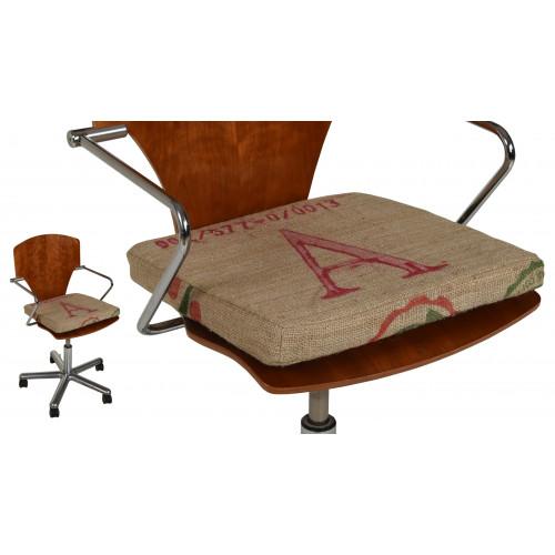 Seat Cushion Seat Pillow Stool Cushion made from Jute Coffee Sacks 40x40x4 cm