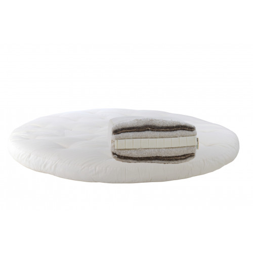 Horsehair, cotton, latex. Round mattress Futon Model 11