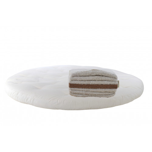 Cotton, latexed coconut. Round mattress Futon Model 2